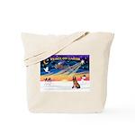 XmasSunrise/Bloodhound Tote Bag