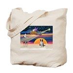 XmasStar/Border Collie Tote Bag