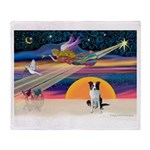XmasStar/Border Collie Throw Blanket