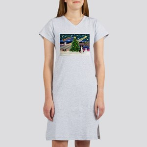 Xmas Magic & Border Collie Women's Nightshirt