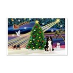 Xmas Magic & Border Collie 22x14 Wall Peel