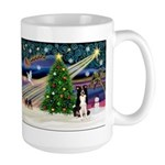 Xmas Magic & Border Collie Large Mug