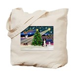 Xmas Magic & Border Collie Tote Bag