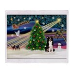 Xmas Magic & Border Collie Throw Blanket