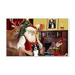 Santa's Border Collie 22x14 Wall Peel
