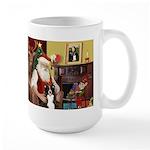 Santa's Border Collie Large Mug