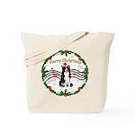 XmasMusic1MC/Border Collie Tote Bag