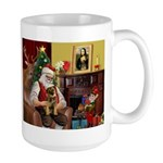 Santa's Border Terrier Large Mug