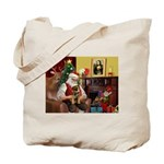 Santa's Border Terrier Tote Bag