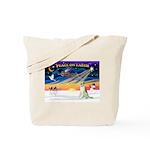 XmasSunrise/Borzoi Tote Bag