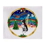 XmasMusic 3/Boston Terrier Throw Blanket