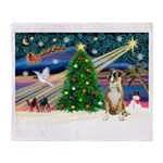 Xmas Magic & Boxer Throw Blanket