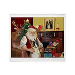 Santa's Boxer (#1) Throw Blanket