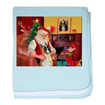 Santa's Boxer (#1) baby blanket