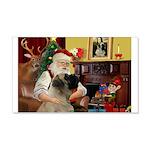 Santa's Bullmastiff #7 22x14 Wall Peel