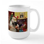 Santa's Bullmastiff #7 Large Mug