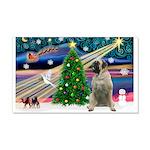 Xmas Magic & Bull Mastiff 22x14 Wall Peel