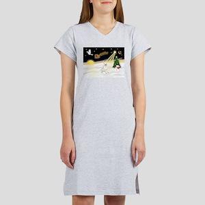 Night Flight/Bull Ter #4 Women's Nightshirt