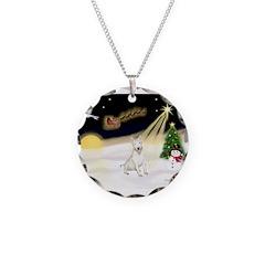 Night Flight/Bull Ter #4 Necklace
