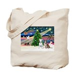 XmasMagic/2 Bullies Tote Bag