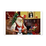 Santa's Bull Terrier 22x14 Wall Peel