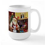 Santa's Bull Terrier Large Mug