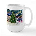 XmasMagic/Bull Terrier (W) Large Mug
