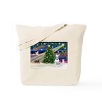XmasMagic/Bull Terrier (W) Tote Bag