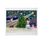 XmasMagic/Bull Terrier (W) Throw Blanket