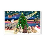 Xmas Magic & 5 Cairn Terriers 22x14 Wall Peel
