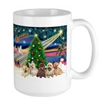 Xmas Magic & 5 Cairn Terriers Large Mug
