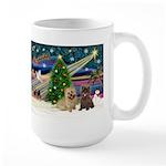 Xmas Magic & 2 Cairns Large Mug