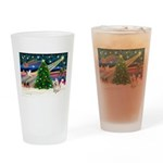Xmas Magic & Cairn Terrier Drinking Glass