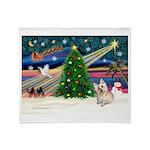 Xmas Magic & Cairn Terrier Throw Blanket