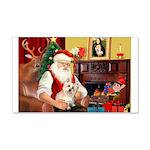 Santa's Cairn Terrier 22x14 Wall Peel