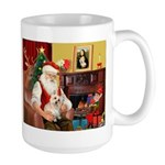 Santa's Cairn Terrier Large Mug