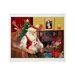 Santa's Cairn Terrier Throw Blanket