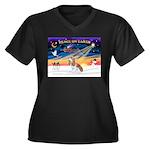 XmasSunrise/Cavalier F1 Women's Plus Size V-Neck D