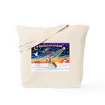 XmasSunrise/Cavalier F1 Tote Bag
