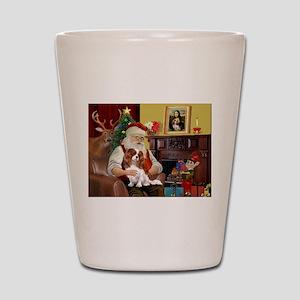 Santa's Cavalier (BL) Shot Glass