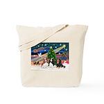 XMAS MAGIC / 3 Cavaliers Tote Bag