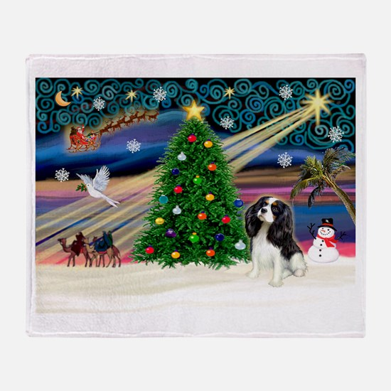 XmasMagic/Tri Cavalier Throw Blanket