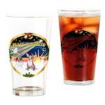 XmasSunrise/Chihuahua #1 Drinking Glass