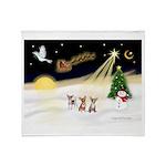 Night Flight/3 Chihuahuas Throw Blanket