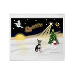Night Flight/Chihuahua Throw Blanket