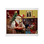 Santa's Chihuahua Throw Blanket