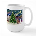 Xmas Magic & Chihuahua Large Mug