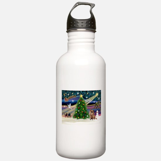 Xmas Magic & Chihuahua Water Bottle