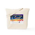 XmasSunrise/C Crested Tote Bag
