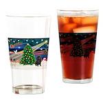 XmasMagic/ Shar Pei Drinking Glass